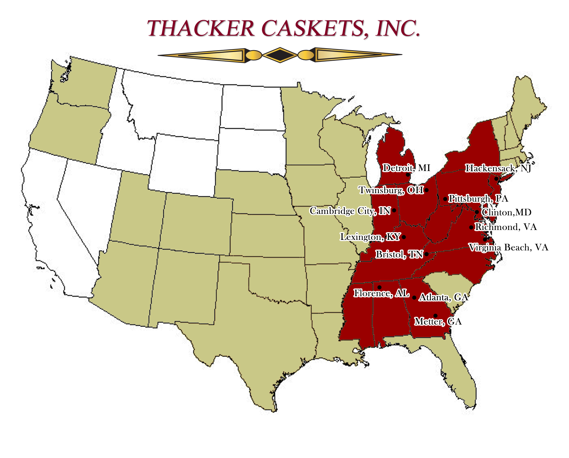 Thacker Service Map